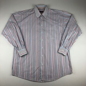 Burberry London Button Up Dress Shirt Men's Large